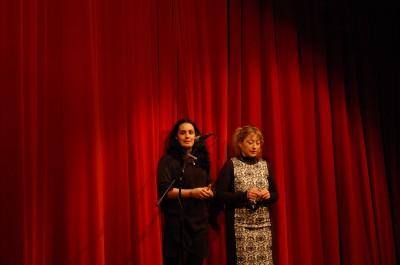 La présentation de Drôles2Mômes par Mélanie PICOULET la présidente et Virginie RAGONNAUD la vice-présidente.