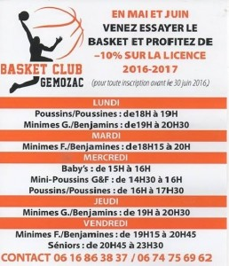 basket club gémozac