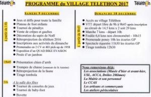 programme village téléthon