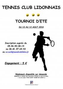 Tournoi de tennis lidonnais