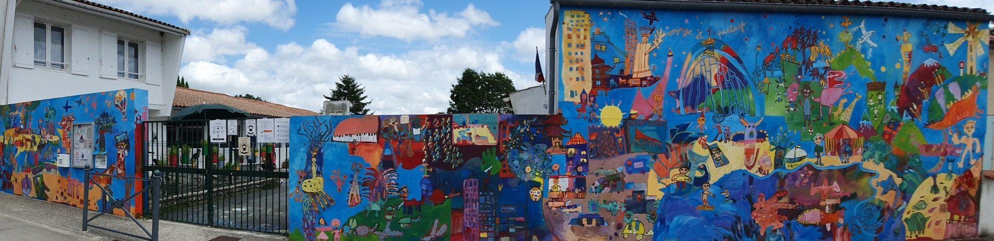 Image bandeau fresque école