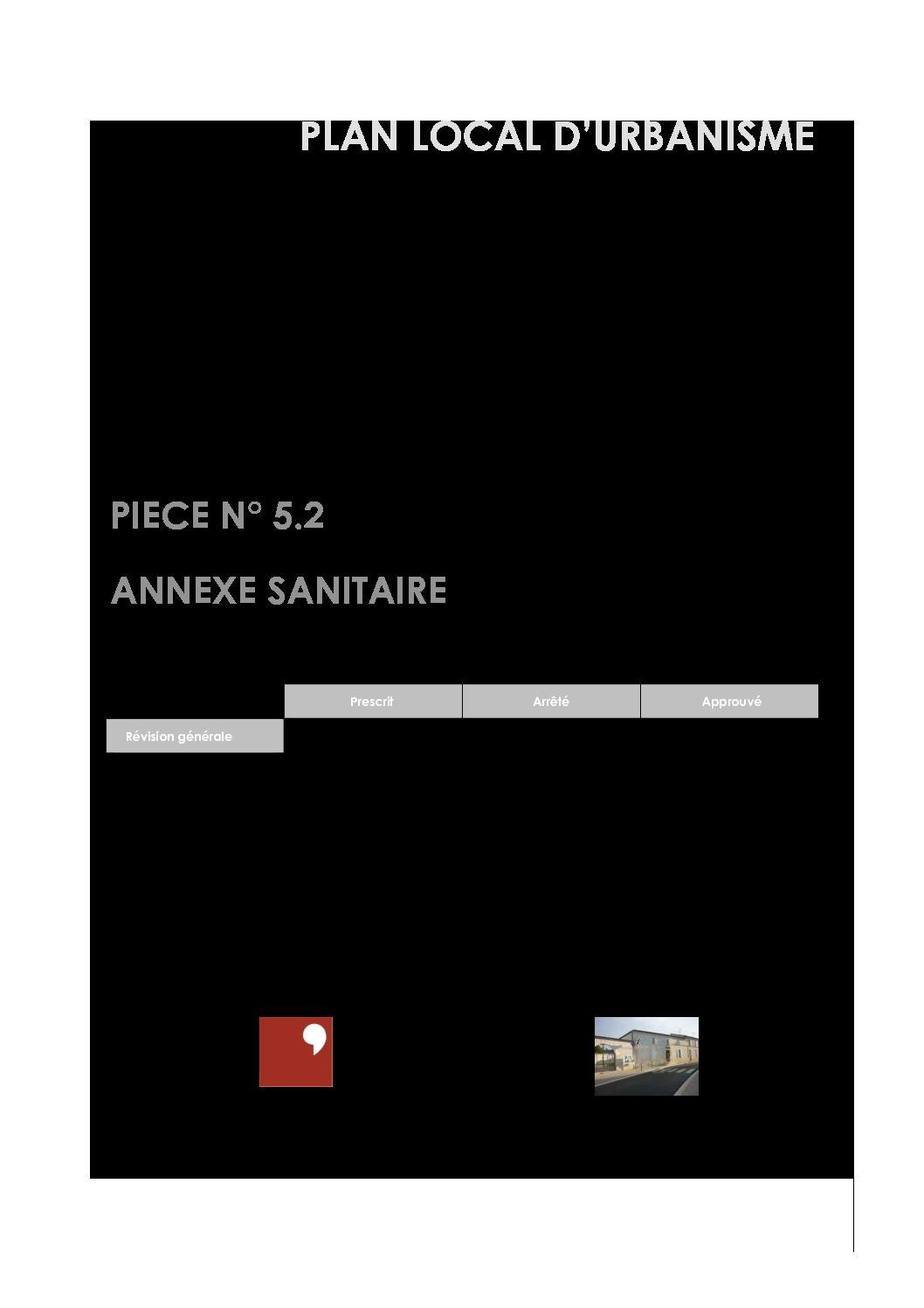 PIECE N° 5.2 – ANNEXE SANITAIRE