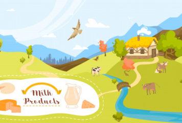 lait-biologique-produits-laitiers-ferme-vaches-dans-herbe-verte-champ-illustration-dessin-anime-agriculture-agricole-ecologique_169479-341