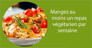 1 repas végétarien par semine